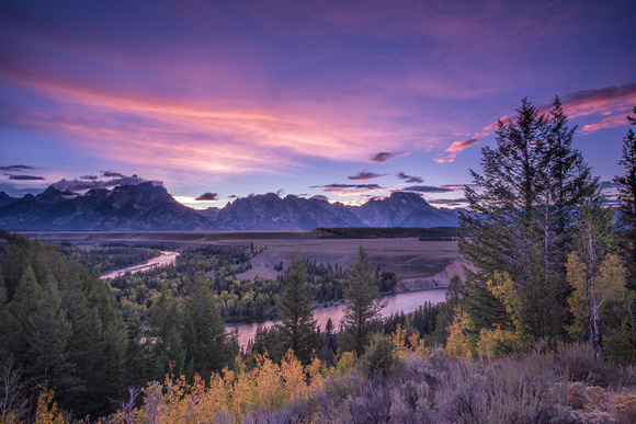 Snake River Overlook, Sunset